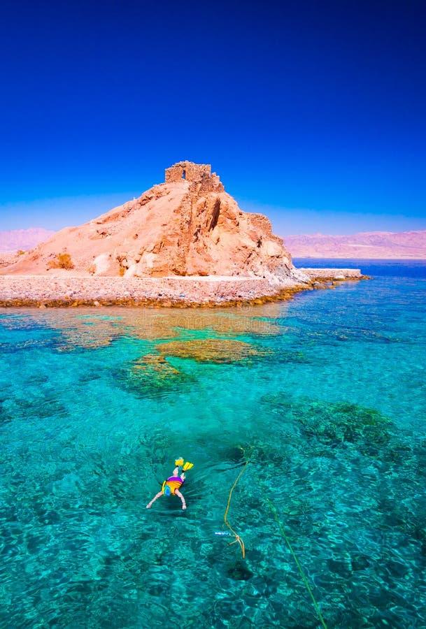 Αίγυπτος Ημέρα Ερυθρών Θαλασσών κολύμβηση με αναπνευστήρ& στοκ φωτογραφία