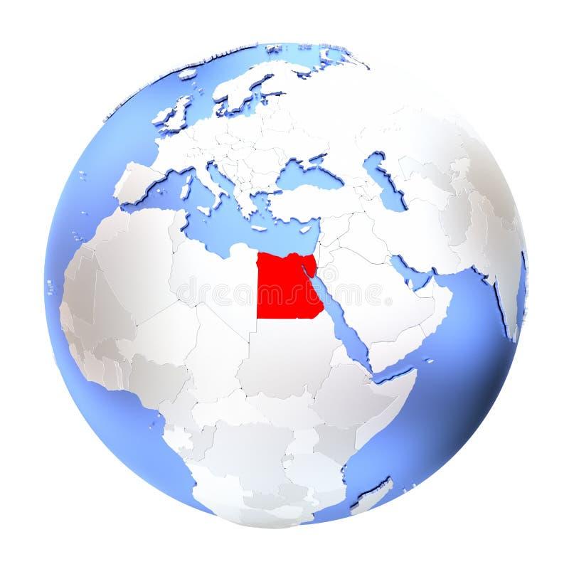 Αίγυπτος στη μεταλλική σφαίρα διανυσματική απεικόνιση