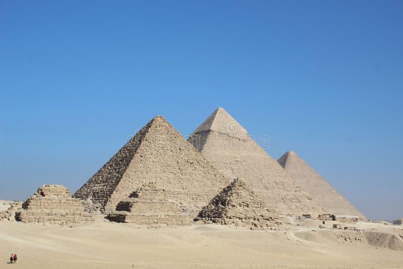 Αίγυπτος τρεις πυραμίδες στοκ φωτογραφίες