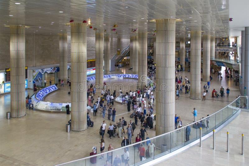 Αίθουσα άφιξης αερολιμένων στο Τελ Αβίβ, Ισραήλ στοκ εικόνα με δικαίωμα ελεύθερης χρήσης