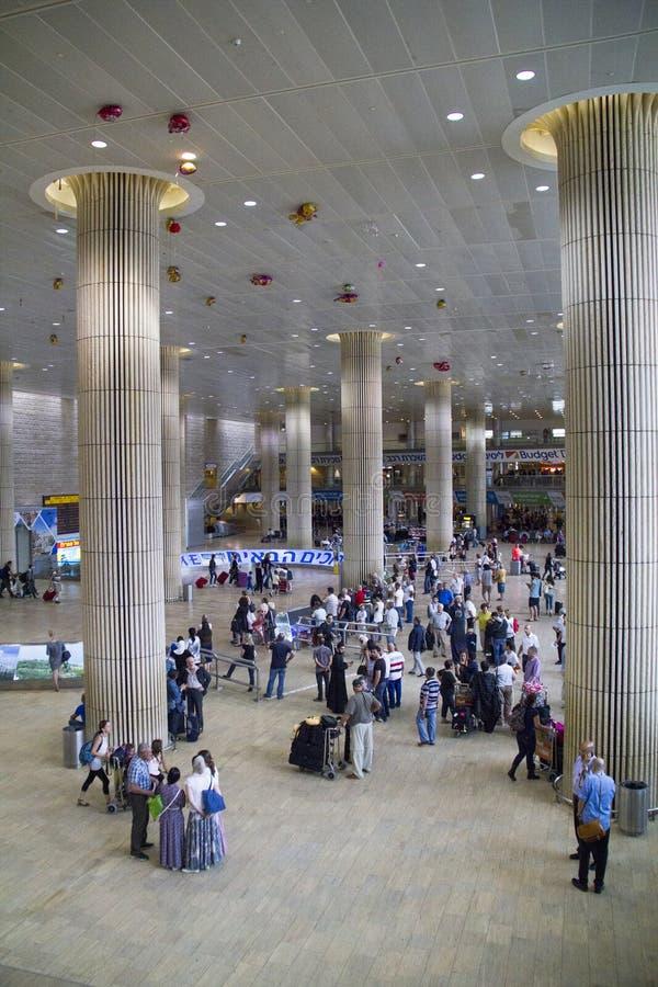Αίθουσα άφιξης αερολιμένων στο Τελ Αβίβ, Ισραήλ στοκ φωτογραφία