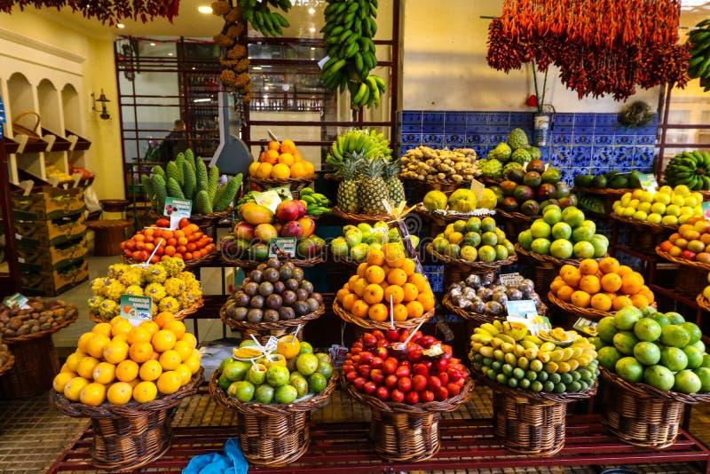 Αίθουσα αγοράς του Φουνκάλ, Μαδέρα στοκ εικόνες