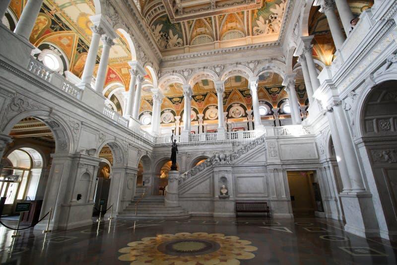 Αίθουσα, βιβλιοθήκη του Κογκρέσου στοκ φωτογραφία με δικαίωμα ελεύθερης χρήσης