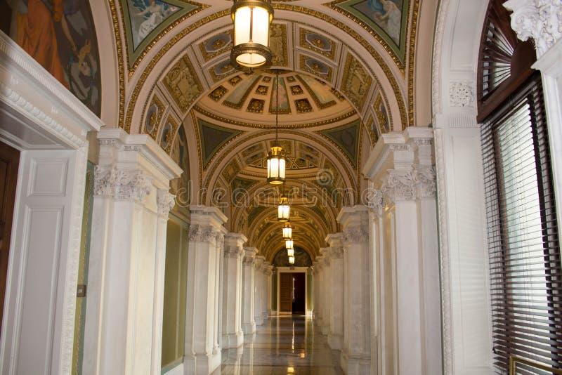 Αίθουσα, βιβλιοθήκη του Κογκρέσου στοκ εικόνες