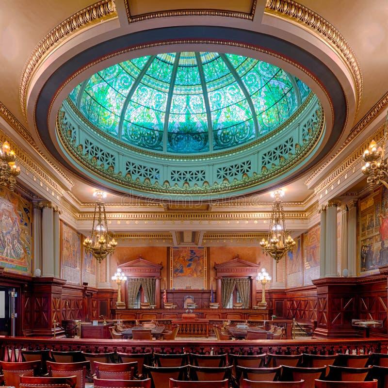 Αίθουσα Εθνικού Ανώτατου Δικαστηρίου της Πενσυλβανίας στοκ εικόνες
