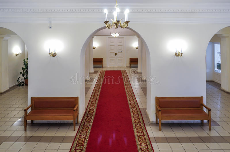 Αίθουσα εισόδων στο εσωτερικό του Μουσείου Τέχνης Veliky Novgorod, Ρωσία στοκ φωτογραφία με δικαίωμα ελεύθερης χρήσης