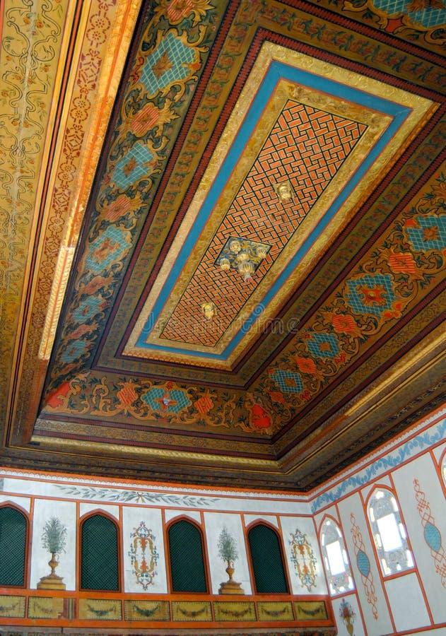 Αίθουσα ντιβανιών στο παλάτι Bakhchisarai στοκ φωτογραφίες