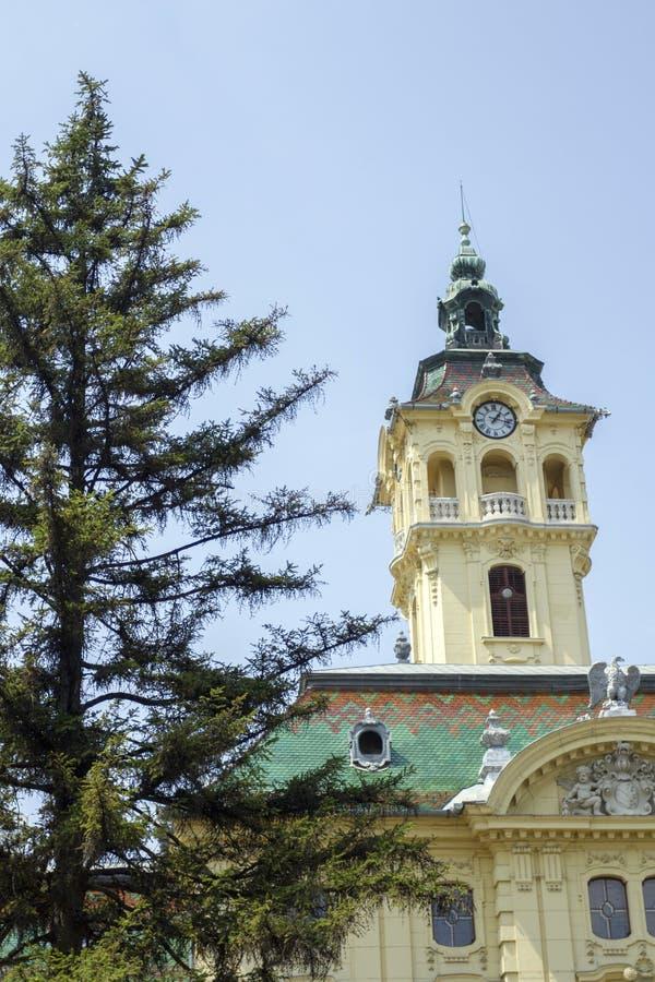 Αίθουσα πόλεων σε Szeged στοκ εικόνες