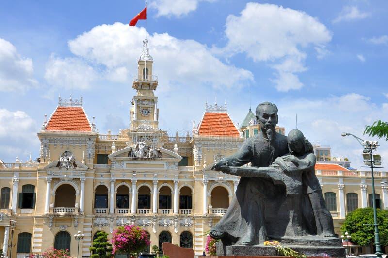 Αίθουσα πόλεων Χο Τσι Μινχ στοκ εικόνες με δικαίωμα ελεύθερης χρήσης
