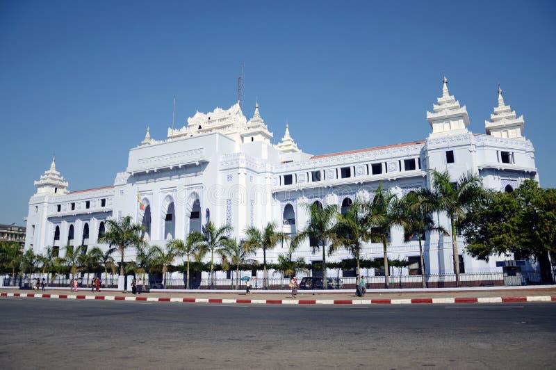 αίθουσα πόλεων yangon στοκ φωτογραφία με δικαίωμα ελεύθερης χρήσης