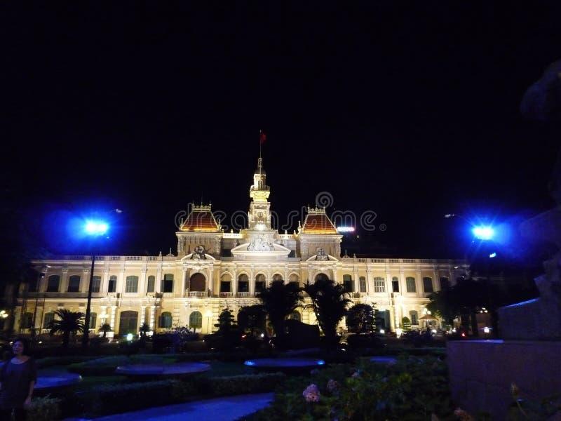 Αίθουσα πόλεων Χο Τσι Μινχ στοκ φωτογραφία με δικαίωμα ελεύθερης χρήσης