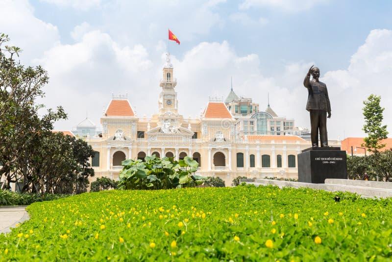 Αίθουσα πόλεων Χο Τσι Μινχ στοκ εικόνες