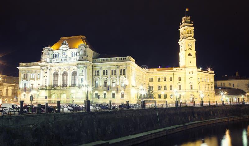 Αίθουσα πόλεων Oradea στοκ εικόνες