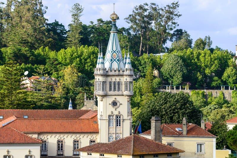 Αίθουσα πόλεων Sintra (Πορτογαλία) στοκ εικόνες