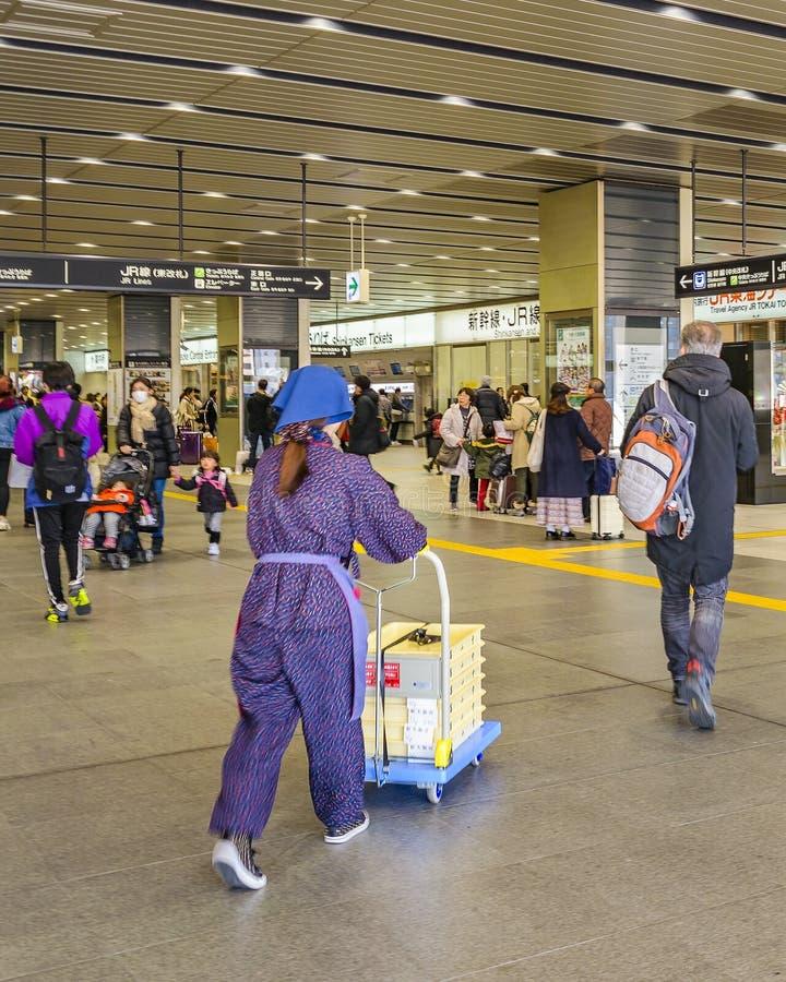 Αίθουσα σταθμών τρένου, Οζάκα, Ιαπωνία στοκ φωτογραφίες με δικαίωμα ελεύθερης χρήσης