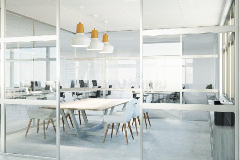 Αίθουσα συνεδριάσεων του γυαλιού, γωνία διανυσματική απεικόνιση