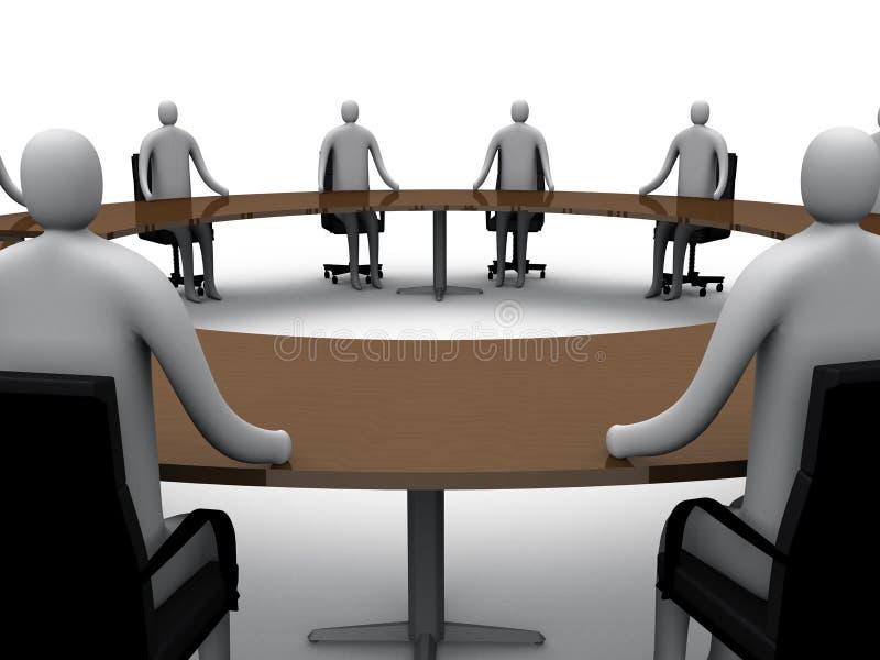 αίθουσα συνεδριάσεων 6 διανυσματική απεικόνιση