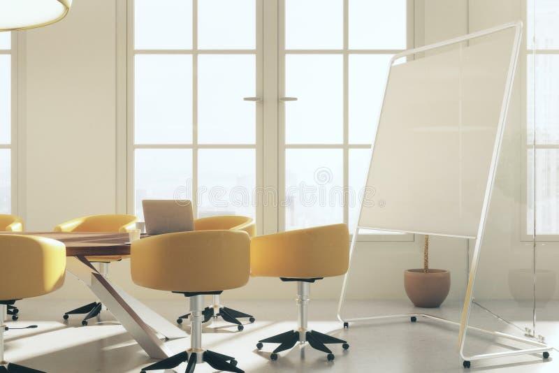 Αίθουσα συνεδριάσεων με το whiteboard ελεύθερη απεικόνιση δικαιώματος