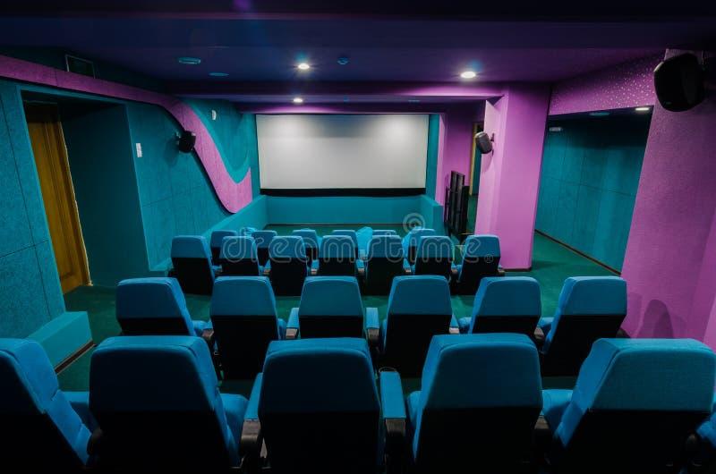 Αίθουσα συνεδριάσεων στον κινηματογράφο στοκ εικόνες