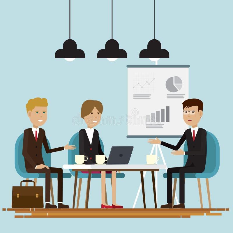 Αίθουσα συνεδριάσεων των επιχειρηματιών απεικόνιση αποθεμάτων