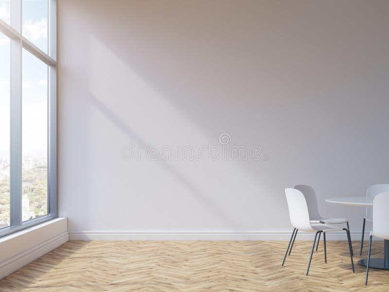 Αίθουσα συνδιαλέξεων με τον κενό τοίχο διανυσματική απεικόνιση