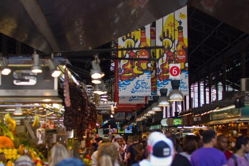 Αίθουσα φρέσκιας αγοράς στη Βαρκελώνη στοκ εικόνα