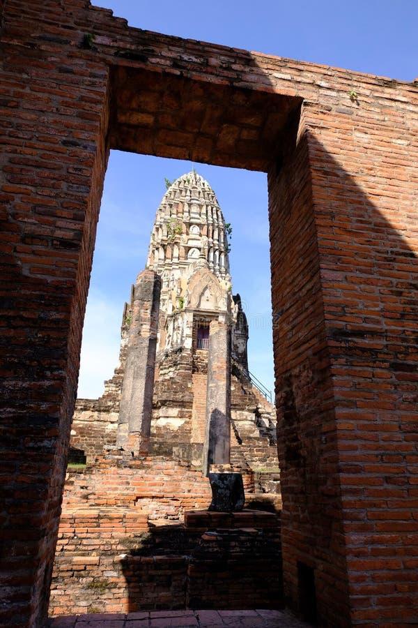 Αίθουσα χειροτονίας Rathburana στον ιστορικό ναό σε Ayutthaya στοκ εικόνες με δικαίωμα ελεύθερης χρήσης