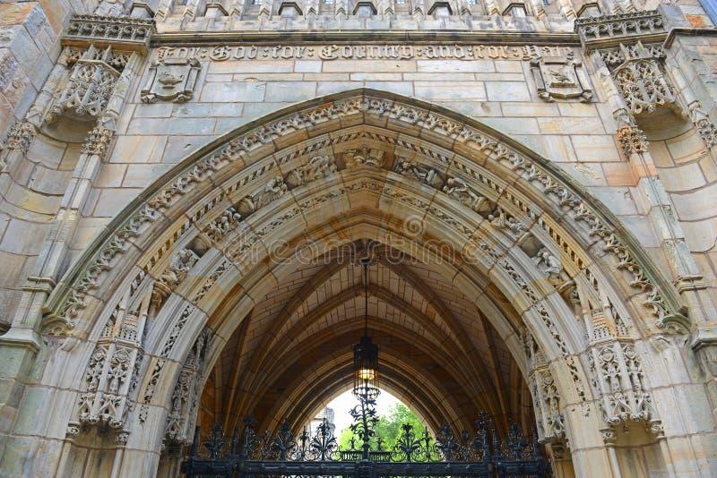 Αίθουσα Branford, πανεπιστήμιο Γέιλ, CT, ΗΠΑ στοκ φωτογραφίες