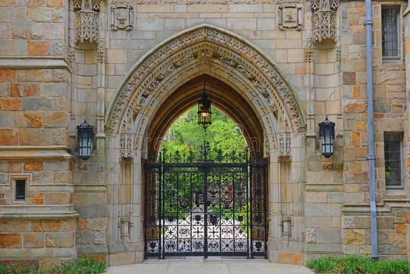 Αίθουσα Branford, πανεπιστήμιο Γέιλ, CT, ΗΠΑ στοκ εικόνες