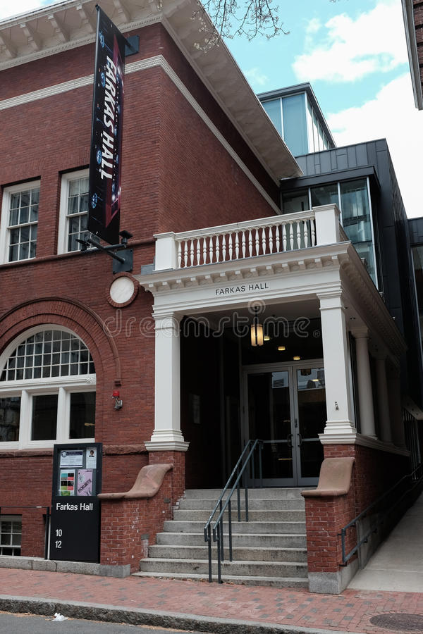 Αίθουσα Farkas Πανεπιστημίου του Χάρβαρντ στοκ εικόνα