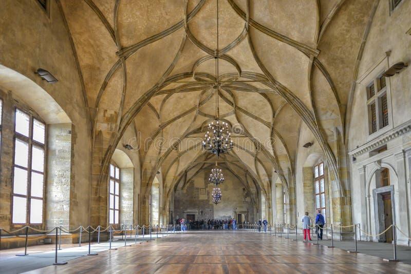 Αίθουσα Vladislav, Πράγα, Δημοκρατία της Τσεχίας στοκ εικόνες με δικαίωμα ελεύθερης χρήσης