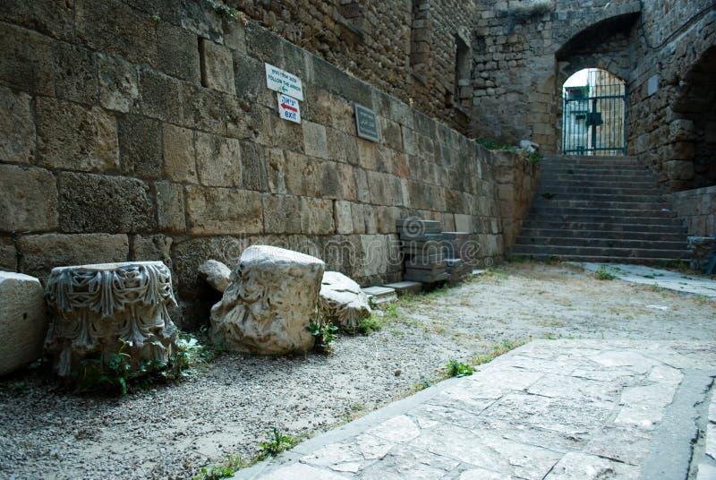 Αίθουσες ιππότη - Akko (στρέμμα), Ισραήλ στοκ φωτογραφία με δικαίωμα ελεύθερης χρήσης
