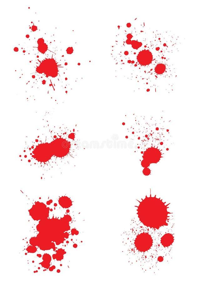 αίμα splats διανυσματική απεικόνιση