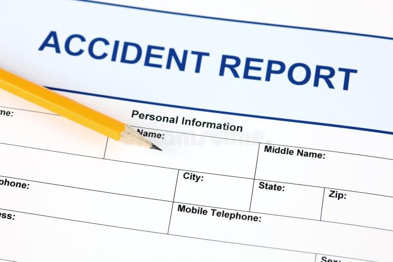 Αίτηση υποψηφιότητας εκθέσεων ατυχήματος στοκ φωτογραφία