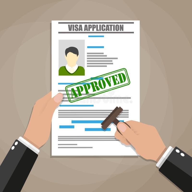 Αίτηση υποψηφιότητας θεωρήσεων διανυσματική απεικόνιση