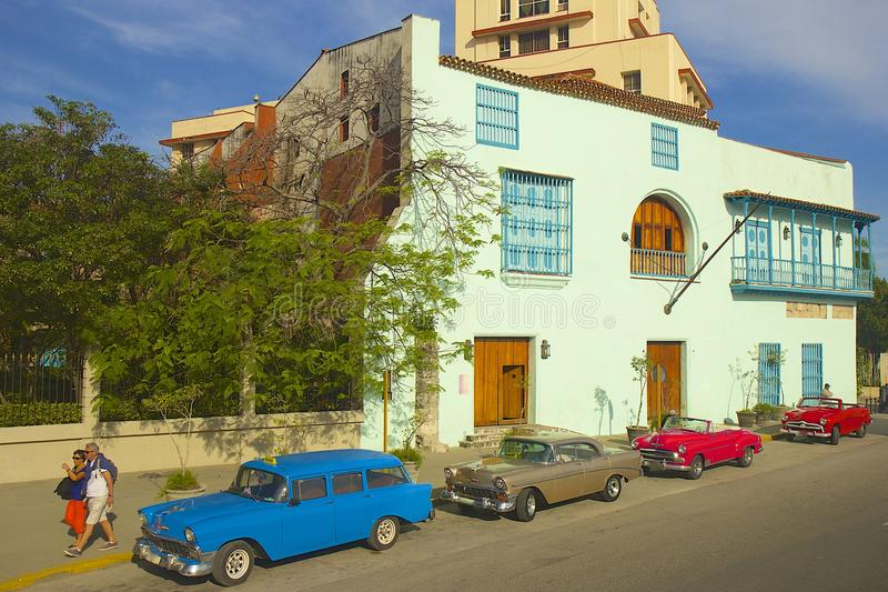 Αβάνα και αυτοκίνητα, Κούβα στοκ φωτογραφίες