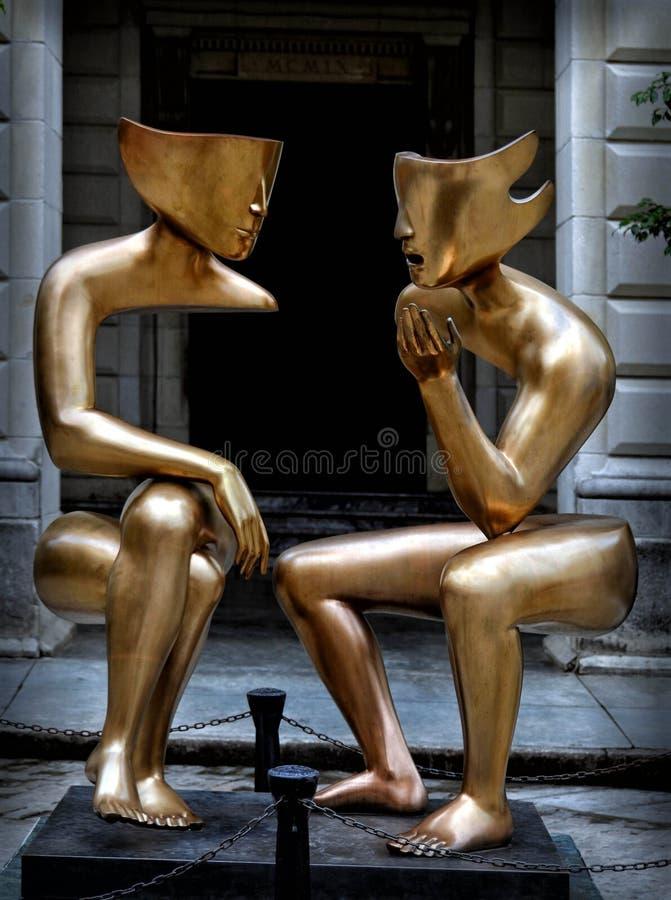 Αβάνα, το γλυπτό συνομιλίας στοκ εικόνα
