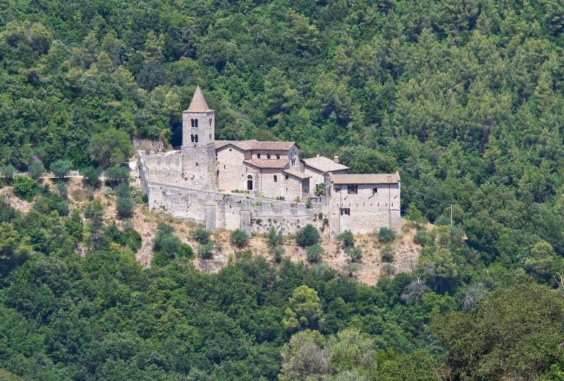 Αβαείο του ST Cassiano. Narni. Ουμβρία. Ιταλία. στοκ φωτογραφίες