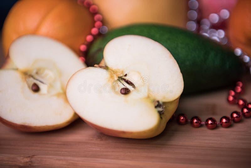 Αβοκάντο και πράσινα μήλα στοκ φωτογραφία με δικαίωμα ελεύθερης χρήσης