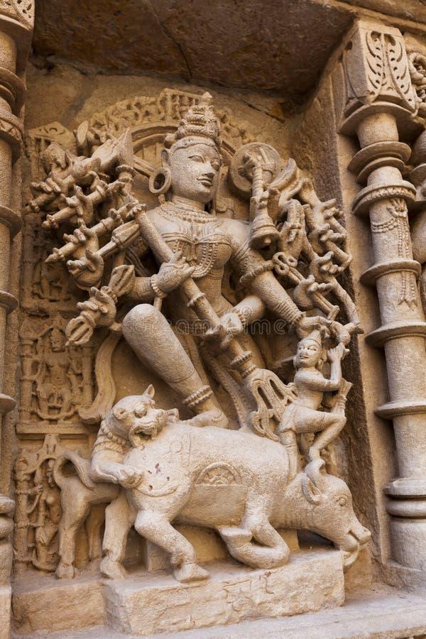 Αγάλματα στο βήμα Rani Ki Vav καλά στοκ εικόνες με δικαίωμα ελεύθερης χρήσης