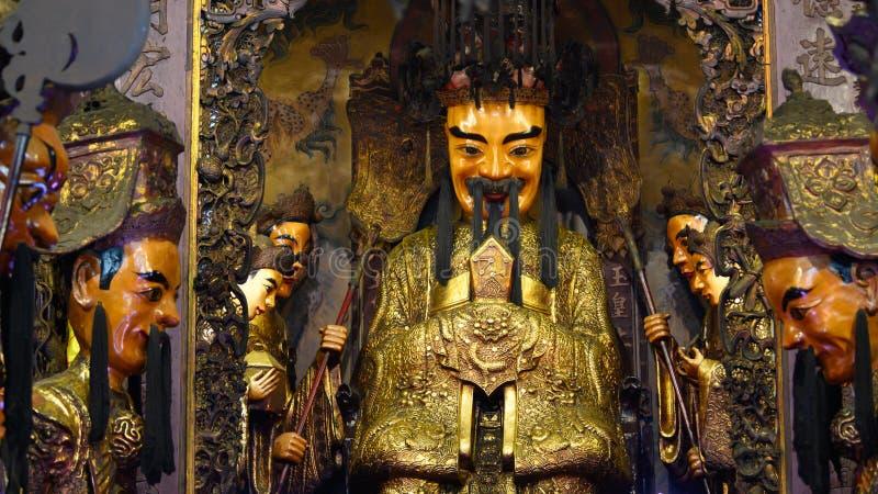 Αγάλματα στο ναό Thien Hau, τη πόλη Χο Τσι Μινχ ή Saigon, Βιετνάμ στοκ φωτογραφίες