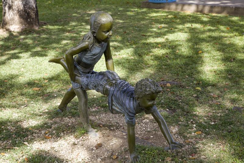 Αγάλματα το εσωτερικό πάρκο Cenntral για τα παιδιά Bayamon Πουέρτο Ρίκο στοκ εικόνες με δικαίωμα ελεύθερης χρήσης