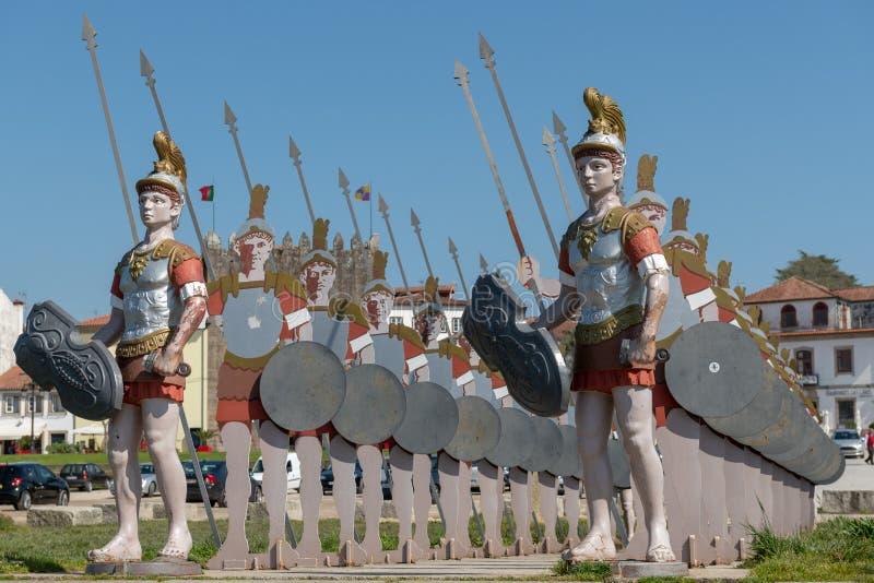 Αγάλματα των ρωμαϊκών στρατιωτών στοκ εικόνα με δικαίωμα ελεύθερης χρήσης