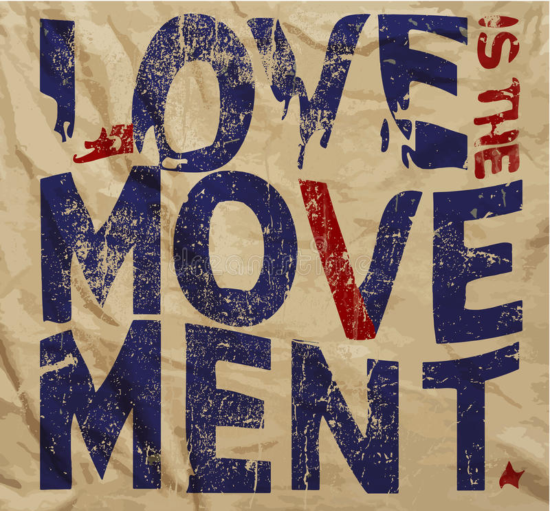 Αγάπης γραφικό διανυσματικό σχέδιο μπλουζών συνθήματος εκλεκτής ποιότητας ελεύθερη απεικόνιση δικαιώματος