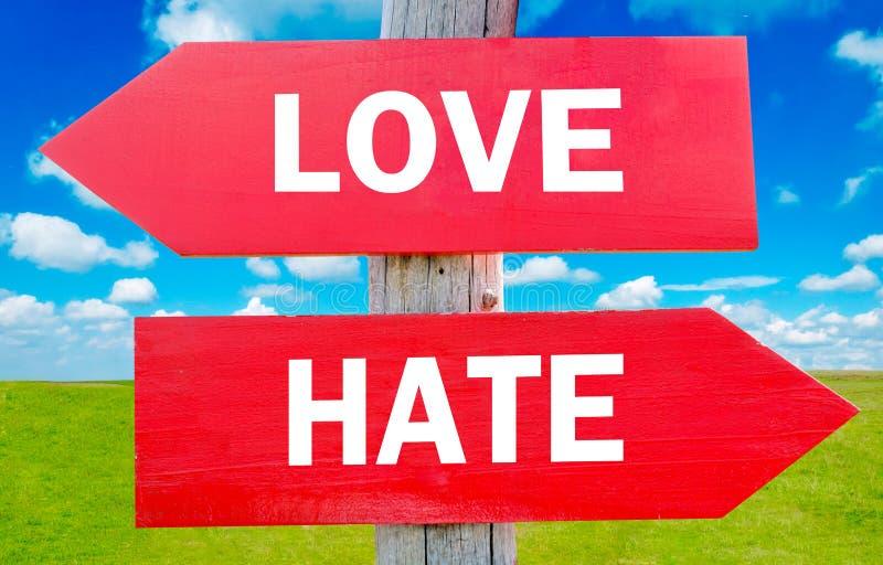 Αγάπη ή μίσος στοκ εικόνες με δικαίωμα ελεύθερης χρήσης