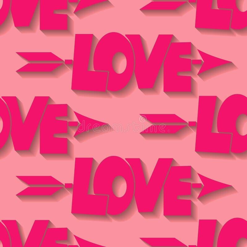αγάπη ανασκόπησης άνευ ραφής διανυσματική απεικόνιση