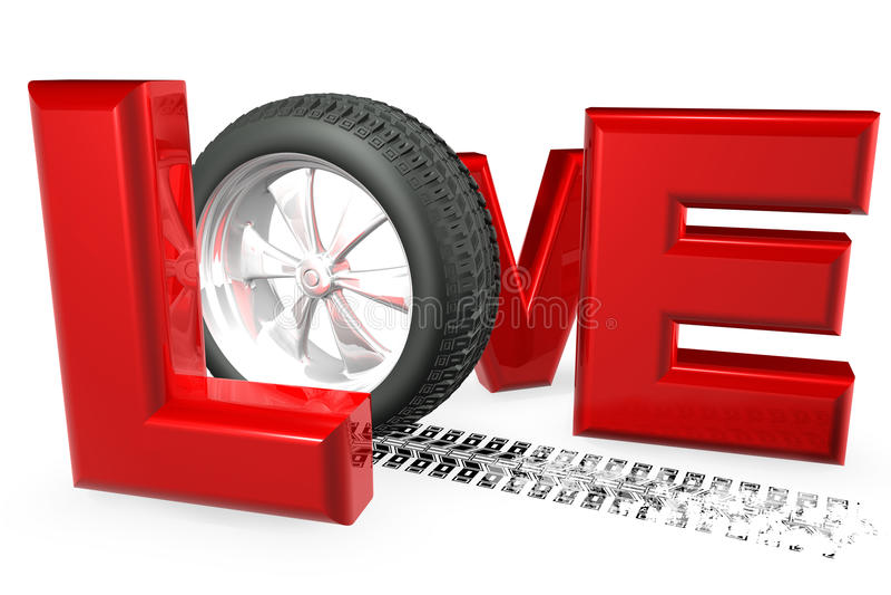 αγάπη αυτοκινήτων απεικόνιση αποθεμάτων