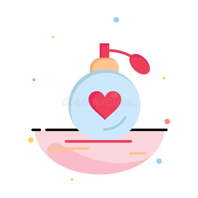 Αγάπη, γάμος, πάθος, άρωμα, βαλεντίνος, πρότυπο εικονιδίων γαμήλιου αφηρημένο επίπεδο χρώματος απεικόνιση αποθεμάτων