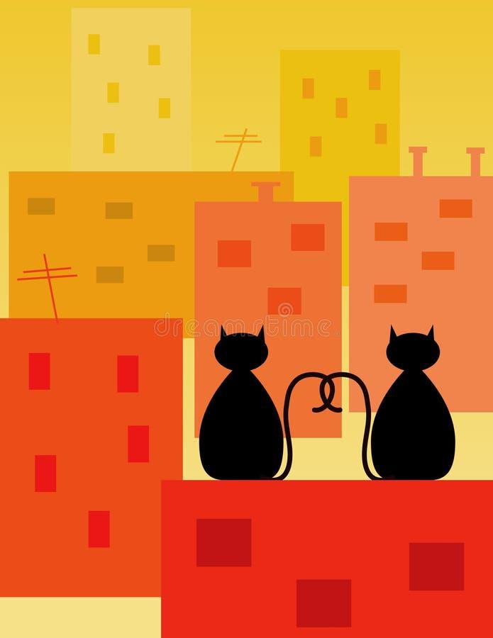 αγάπη γατών απεικόνιση αποθεμάτων
