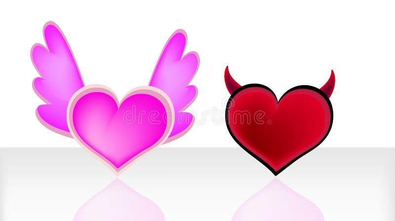 αγάπη διαβόλων αγγέλου διανυσματική απεικόνιση